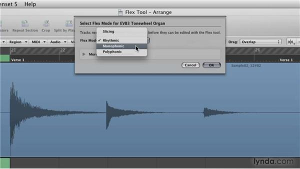 Editing audio like MIDI with the Flex Tool: Logic Pro 9 New Features