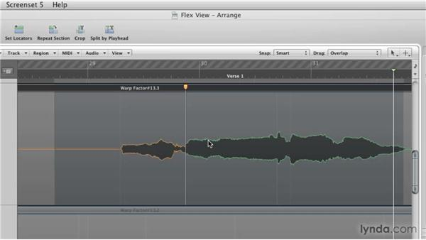 Working in Flex view: Logic Pro 9 New Features