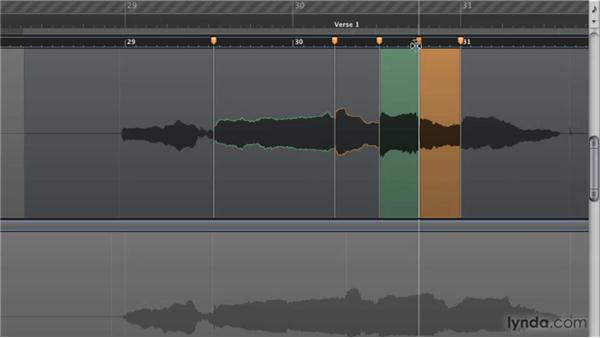 Creating, moving, and deleting Flex markers: Logic Pro 9 New Features