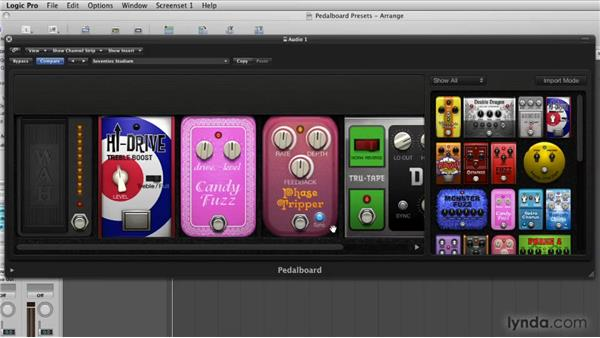 Working with stompbox controls: Logic Pro 9 New Features