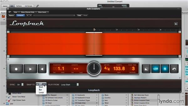 Using the live Loopback recorder: Logic Pro 9 New Features
