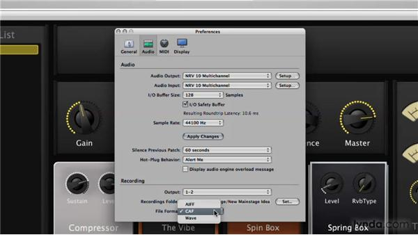 Recording your performance: Logic Pro 9 New Features