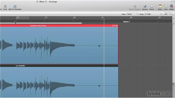 Expanded take folder editing: Logic Pro 9 New Features