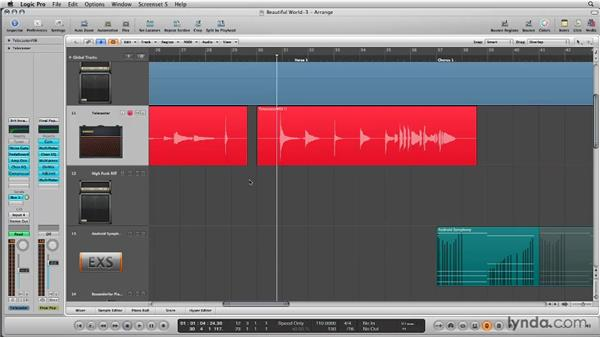 Recording in Replace mode: Logic Pro 9 New Features