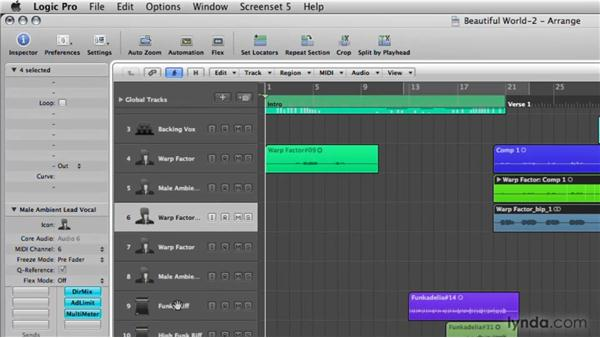 Bouncing a region in place: Logic Pro 9 New Features
