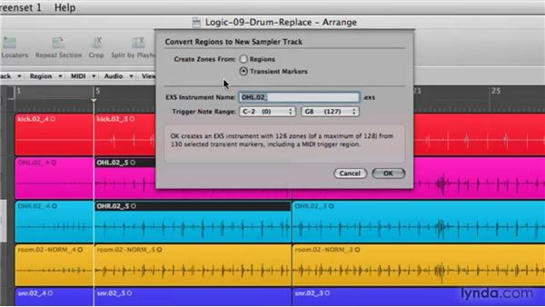 Converting audio to an EXS instrument: Logic Pro 9 New Features