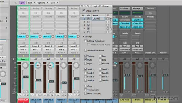 Mono and group options: Logic Pro 9 New Features