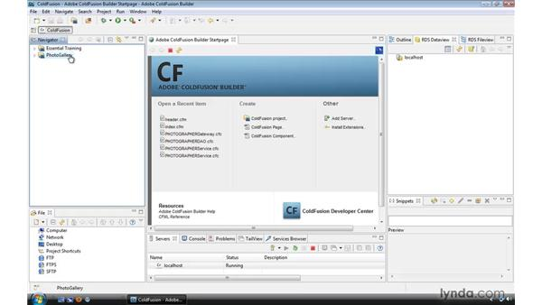 Using the exercise files: ColdFusion 9 Essential Training
