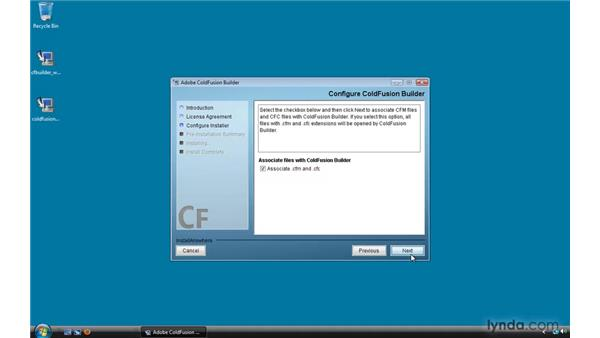 Installing ColdFusion Builder on Windows: ColdFusion 9 Essential Training