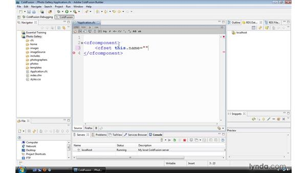 Creating an Application.cfc file: ColdFusion 9 Essential Training