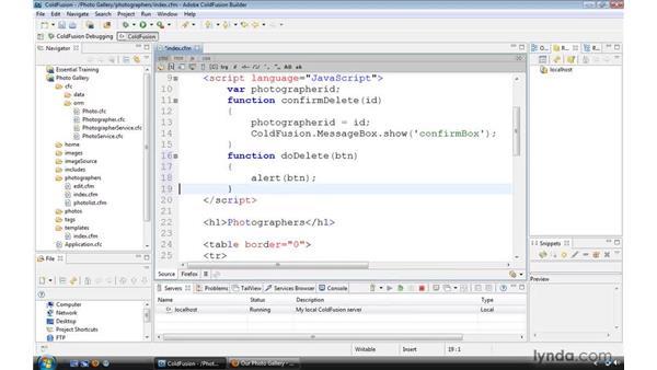 Using JavaScript callback functions: ColdFusion 9 Essential Training