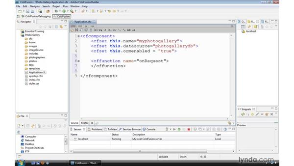 Using the Application.cfc onRequest() method: ColdFusion 9 Essential Training