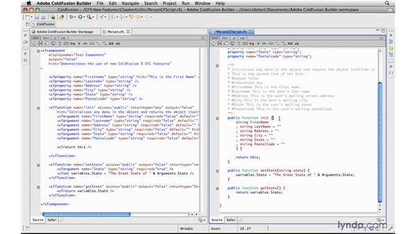 Writing components in CFScript: ColdFusion 9 New Features