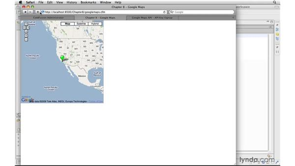 Loading Google maps with markers onto a page: ColdFusion 9 New Features