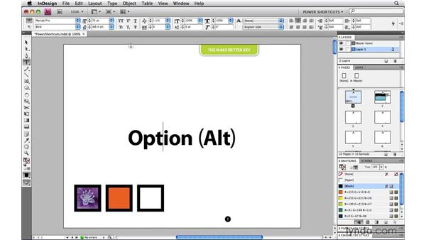 The Make Better key: InDesign CS4 Power Shortcuts