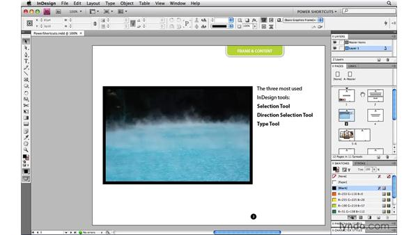 Hiding panels: InDesign CS4 Power Shortcuts
