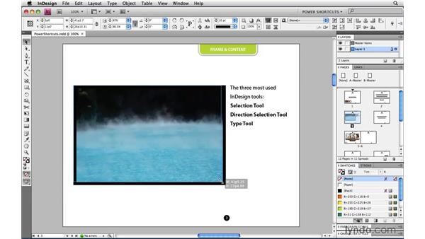 Scaling a frame and its content at the same time: InDesign CS4 Power Shortcuts