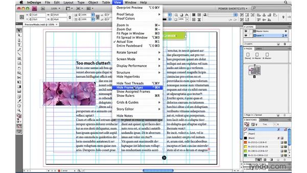 Preview mode: InDesign CS4 Power Shortcuts