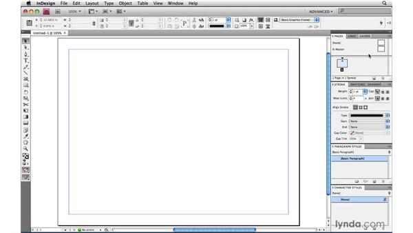 Changing the workspace: InDesign CS4 Power Shortcuts