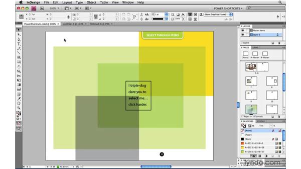 Cycling through open documents: InDesign CS4 Power Shortcuts