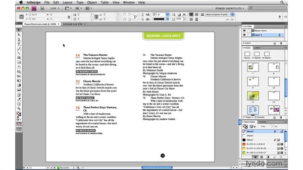 The Arrange Documents widget: InDesign CS4 Power Shortcuts