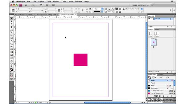 Closing all documents: InDesign CS4 Power Shortcuts