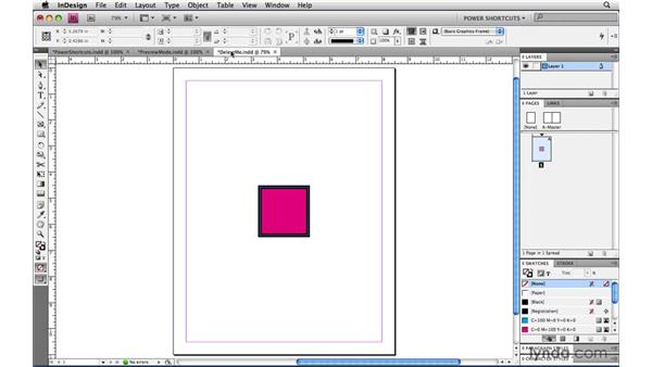 Saving all open documents: InDesign CS4 Power Shortcuts