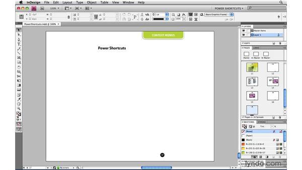 : InDesign CS4 Power Shortcuts