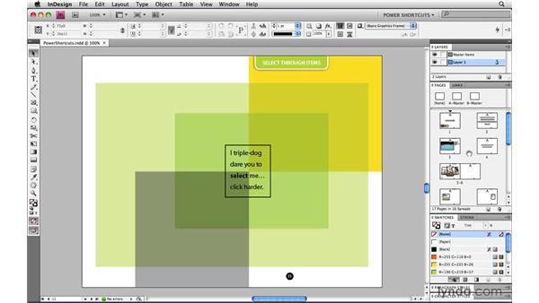 Switching pages via the Pages panel: InDesign CS4 Power Shortcuts