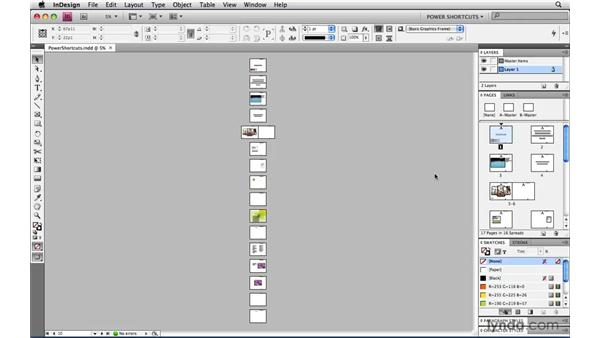 Scrolling one screen at a time: InDesign CS4 Power Shortcuts