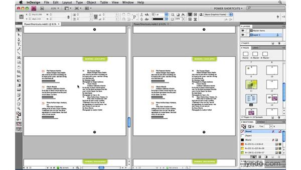 Seeing two views of the same document: InDesign CS4 Power Shortcuts