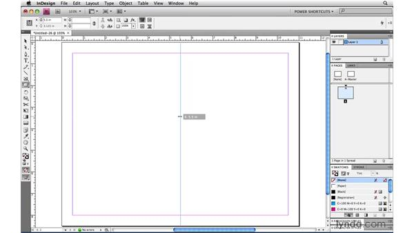 Constraining page item creation tools: InDesign CS4 Power Shortcuts