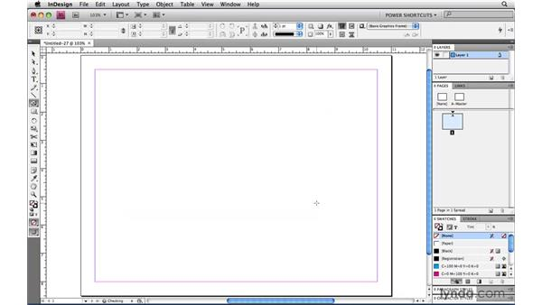 Specifying the size as you create page items: InDesign CS4 Power Shortcuts