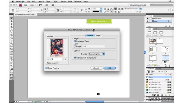 Placing multipage AI and PDF files: InDesign CS4 Power Shortcuts