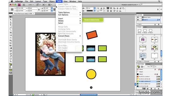 Transform Sequence Again: InDesign CS4 Power Shortcuts