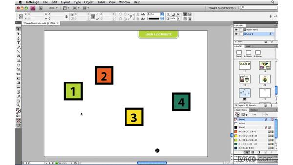 Aligning to a specific object: InDesign CS4 Power Shortcuts