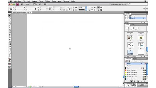 Pasting in the center of the page or spread: InDesign CS4 Power Shortcuts