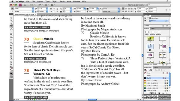 Pasting text without formatting: InDesign CS4 Power Shortcuts