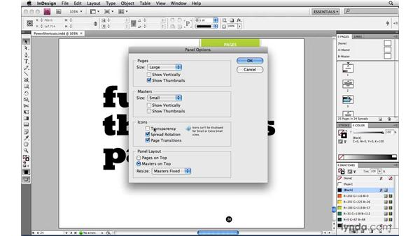 Customizing the Pages panel: InDesign CS4 Power Shortcuts