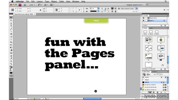 Inserting a new page: InDesign CS4 Power Shortcuts