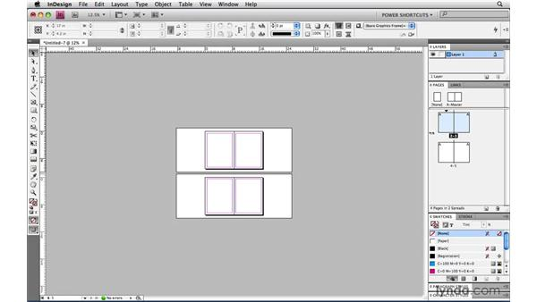 Starting with a double-page spread: InDesign CS4 Power Shortcuts