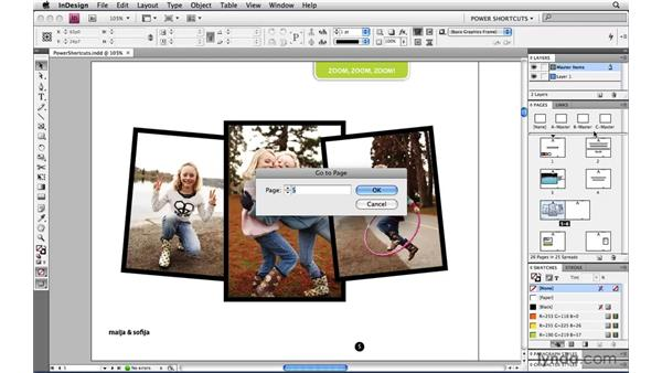 Jumping to a master page: InDesign CS4 Power Shortcuts