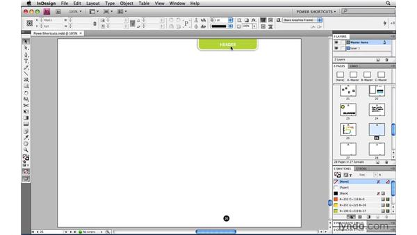 Overriding master page items: InDesign CS4 Power Shortcuts