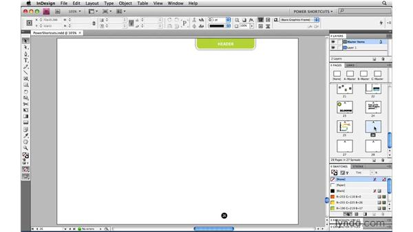 Applying a master page to range of pages: InDesign CS4 Power Shortcuts