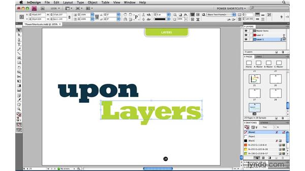 Moving a copy of an item to another layer: InDesign CS4 Power Shortcuts