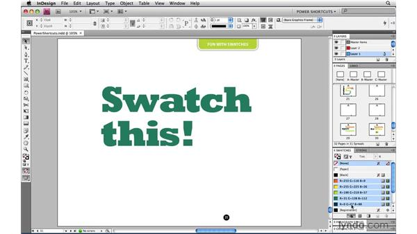 Sharing swatch libraries: InDesign CS4 Power Shortcuts