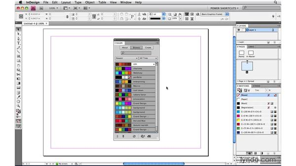 Adding colors from kuler: InDesign CS4 Power Shortcuts