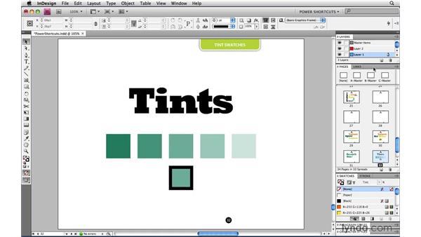 Saving a tint as a swatch: InDesign CS4 Power Shortcuts