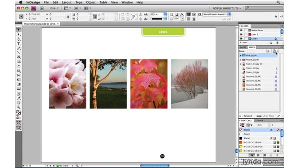 Toggling Link Info visibility: InDesign CS4 Power Shortcuts