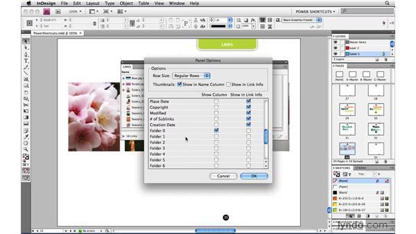 Customizing the Links panel: InDesign CS4 Power Shortcuts